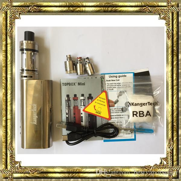 Kanger Topbox Mini 75 W Kit Kangertech KBOX Mini Box Mod Toptank pro SSOCC Atomizzatori nano e cigs con buona qualità