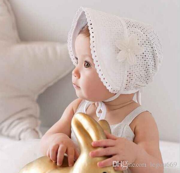 Belle douce princesse mignonne d'enfants d'enfants filles bébé Hat Bonnet Rose New Lace Caps Floral SUY