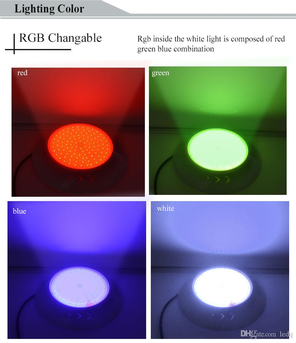 RGB LED Pool Lamp 18W 42W Resin Filled Pond Light Par56 12V Underwater Lights Lighting IP68 Waterproof RGB Fantastic Multi Color Changing CE