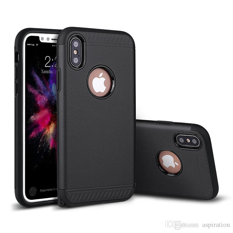 Hybrid Heavy Duty Shockproof Dual Layer Impact Protection Cover Case for iphone X 8 6 6S 7 Plus Hard Back Shell