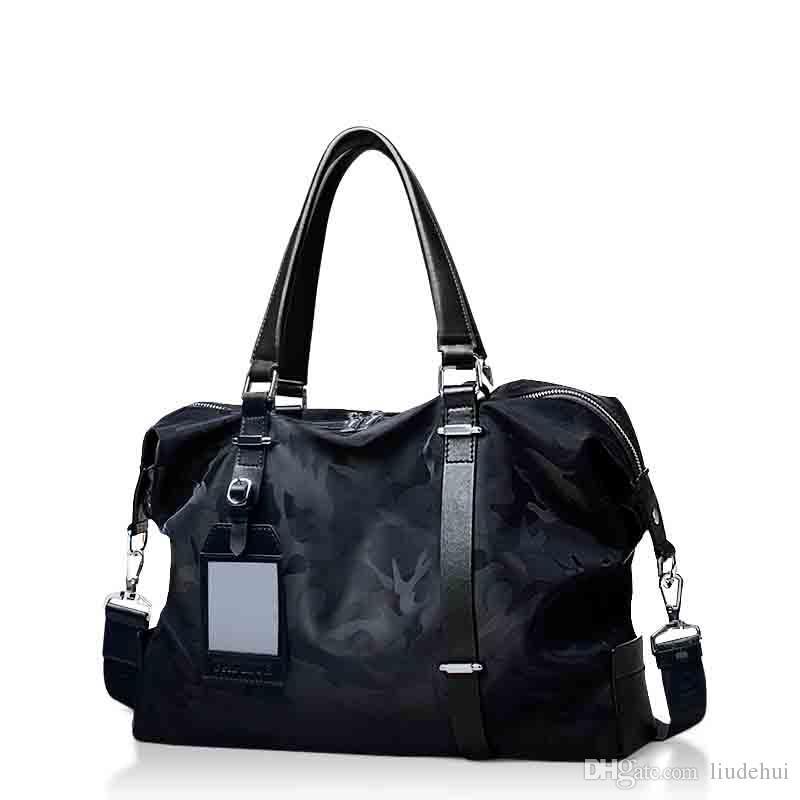 dba1d51b04 The Latest Camouflage Leisure Travel Bag High End Design Hand Luggage Men S  Handbag Retro Big Black Handbag Travel Luggage Men S Handbags Cheap Bags  Cute ...