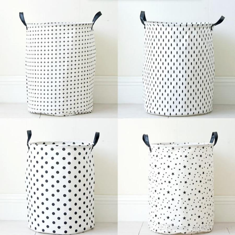 2017 Large Dots Five Pointed Star Cloth Laundry Hamper Clothes Storage  Baskets Home Clothes Barrel Bags Kids Toys Storage Organizer From  Cn18537045123, ...