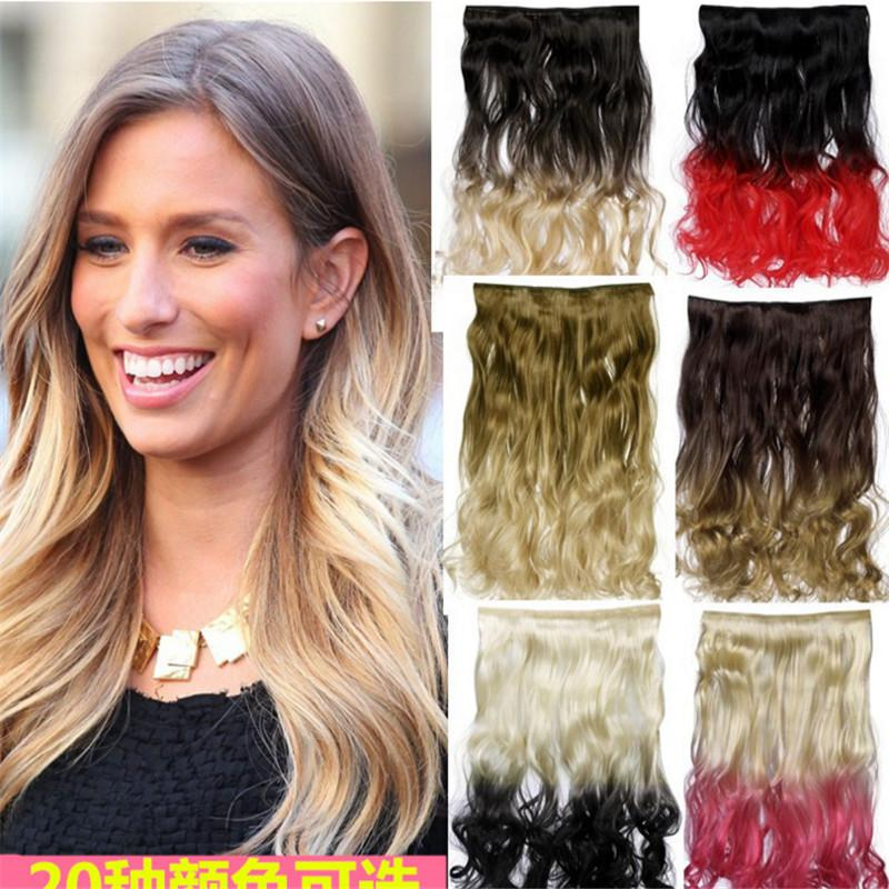 Best Quality One Piece Clip In Hair Extension 5clips 130g Ombre