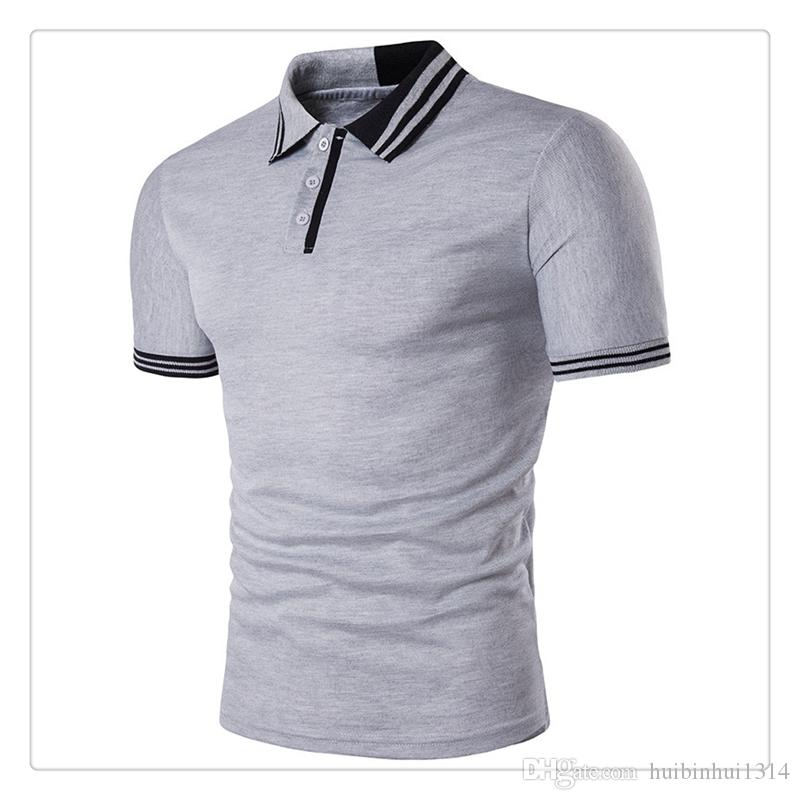 2017 polo shirts for men hot sale short sleeves golf for Mens business shirts sale