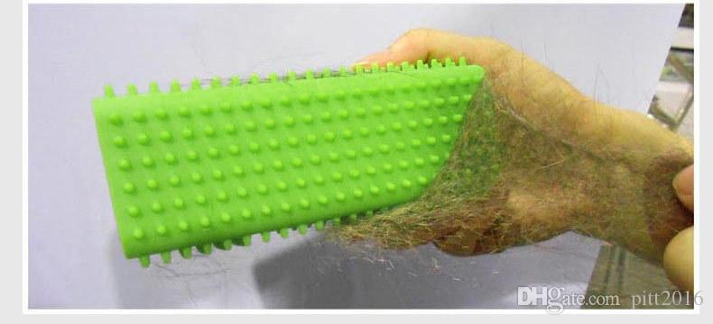100 UNIDS Mascota Perro Cachorro Gato Baño Cepillo Peine Depilación Suave Silicona Herramienta Adhesiva para el Cabello GRATIS Envío