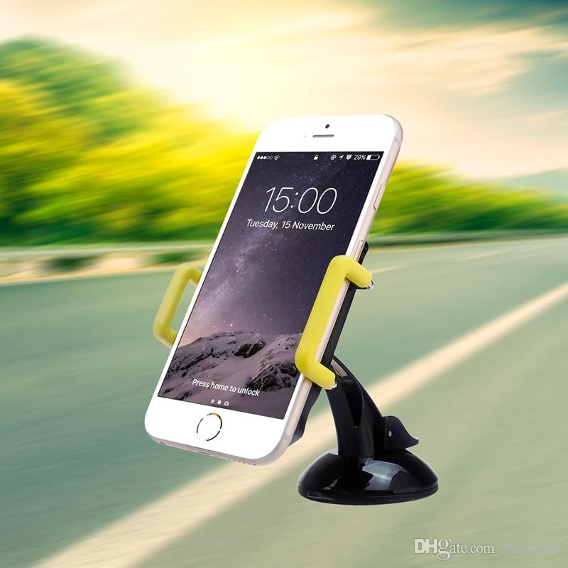 Car Phone Mount Holder Windshield Dashboard Sticky Mobile Phone Cradle for iphone for Samsung S8 Smartphone