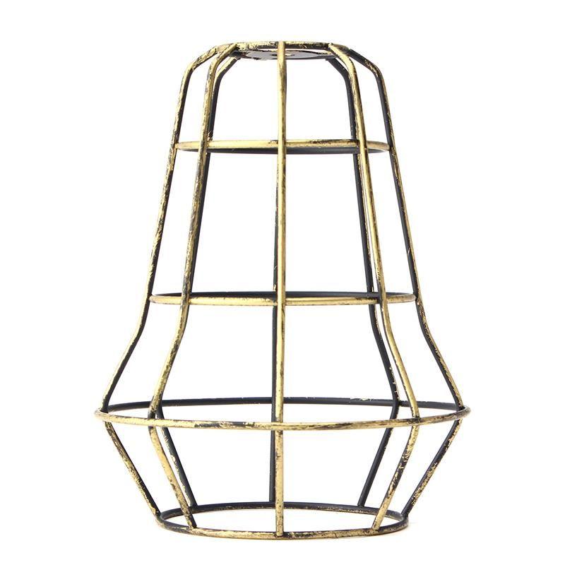 Retro Vintage Edison Lampadina a sospensione Guardia di ferro Gabbia di legatura a soffitto Appeso luce Bar Cafe Paralume Base lampada fai da te