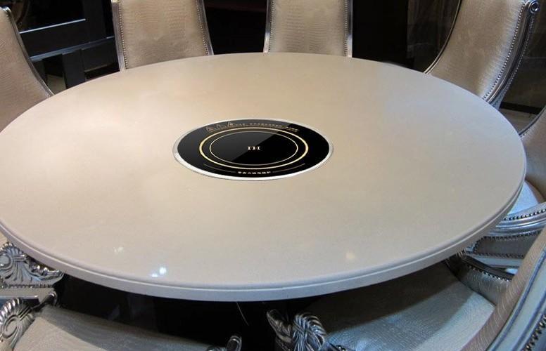 un restaurant hot pot 288mm commercial four électromagnétique circulaire intégré 220 V avec anneau en acier de bureau intégré inductioncooker à double usage