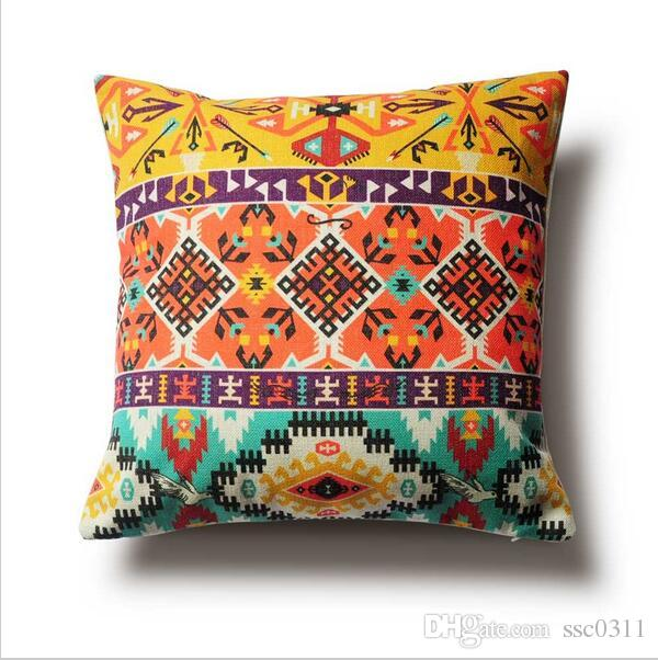 Wholesale Tribal Culture Cushion Pillow Geometry Decorative Pillows Gorgeous Cheap Decorative Pillows Wholesale