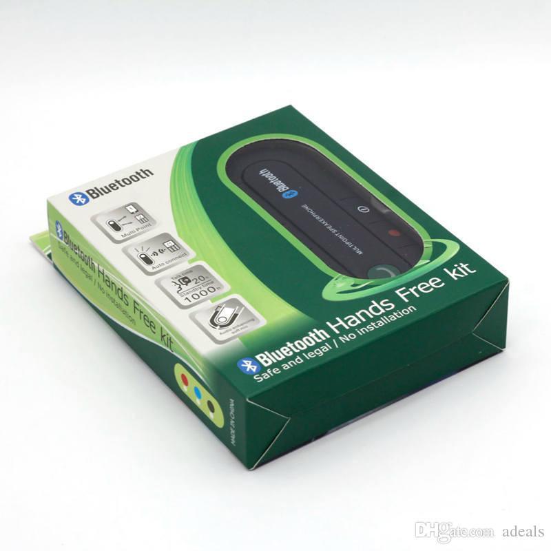 Neue Dual-Phones verbinden Universal-Hände frei Bluetooth Car Kit Headset Bluetooth-Lautsprecher für iPhone, Auto Alle Smartphones
