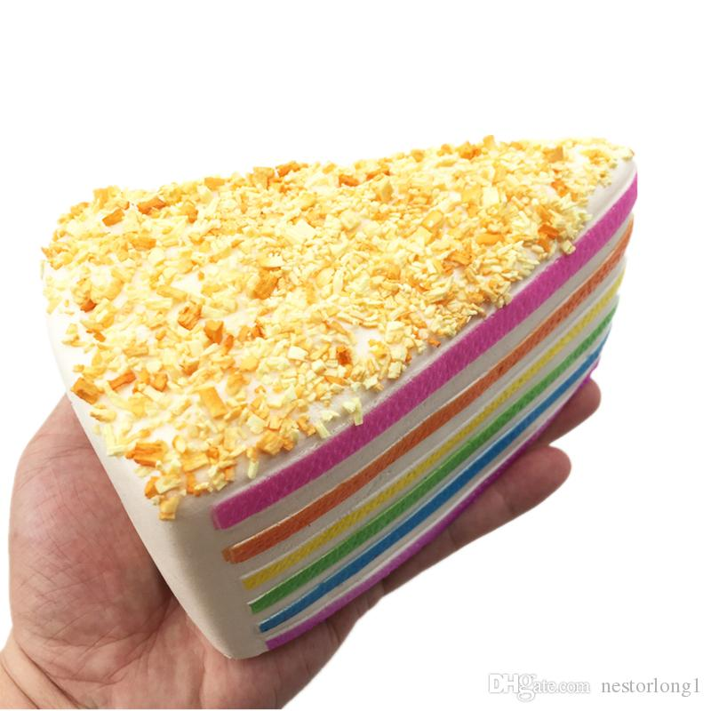 Медленный рост Джамбо Каваи Радуга треугольник торт мягкий крем душистые большие Каваи болотистый прелести рука подушка игрушки декоративные реквизит