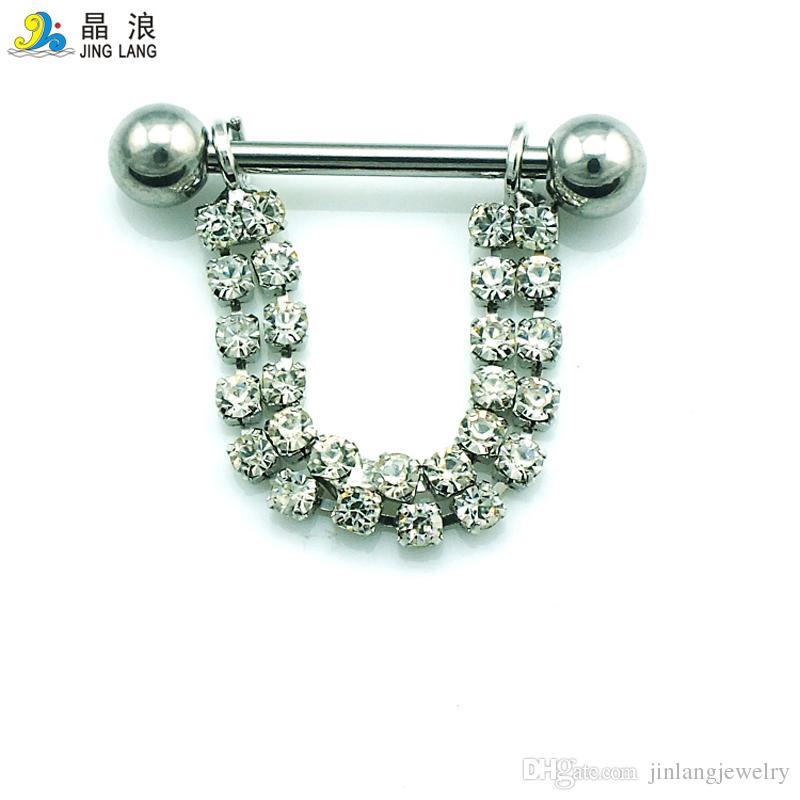 Nuovo! L'acciaio chirurgico d'argento di alta qualità di modo di alta qualità d'argento del semicerchio squilla gli anelli i monili del corpo delle donne