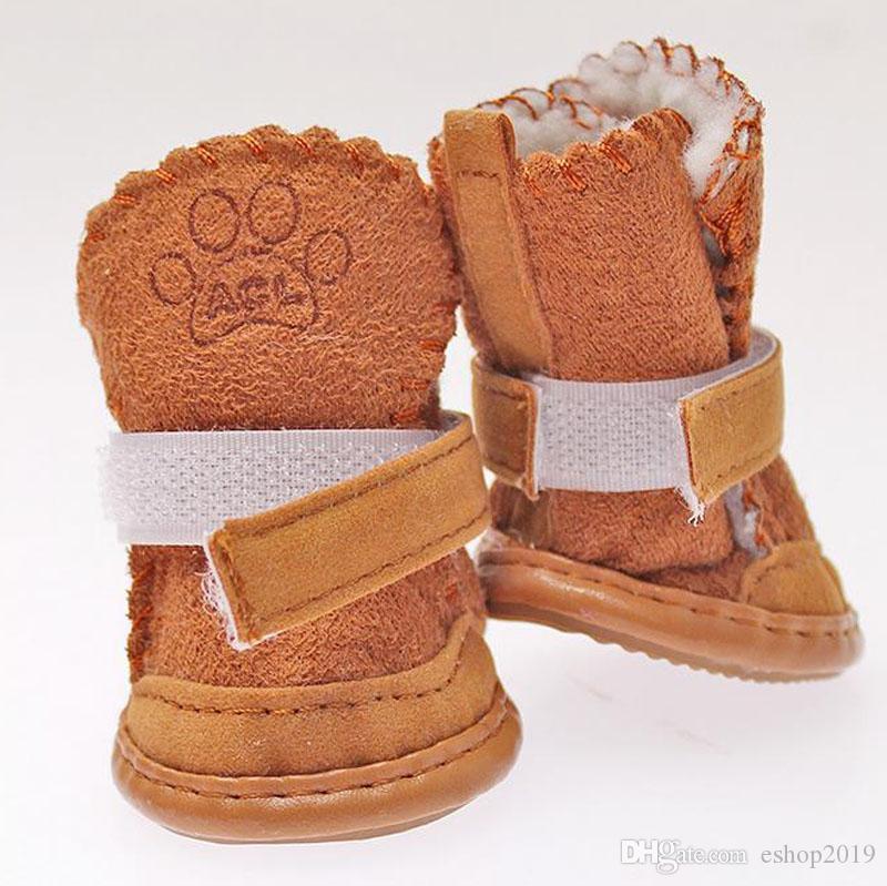 Il cane caldo calza le scarpe calde del cane di inverno di inverno della prova dell'acqua del cane delle scarpe dell'animale domestico del cane i 5 formati trasporto libero