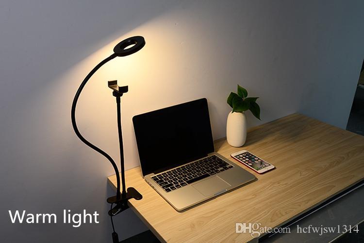 Computer desk lamp, desk top, mobile phone rack, self timer clip