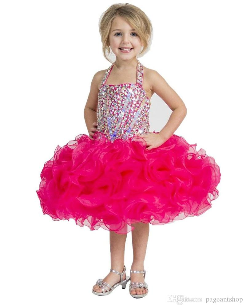 Fuchsia Kids Special Occsion Pageant Cupcake Dresses Infant Tutu Ball Gowns Toddler Baby Girls Ruffled Birthday Party Pageant Dress