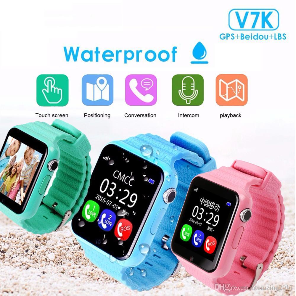 c6daf5535d Tipos De Celulares GPS Smart Watch Kids Watch V7k Con Cámara   Facebook SOS  Call Location DevicerTracker Para Kid Safe Anti Lost Monitor Reloj Telefono  Por ...