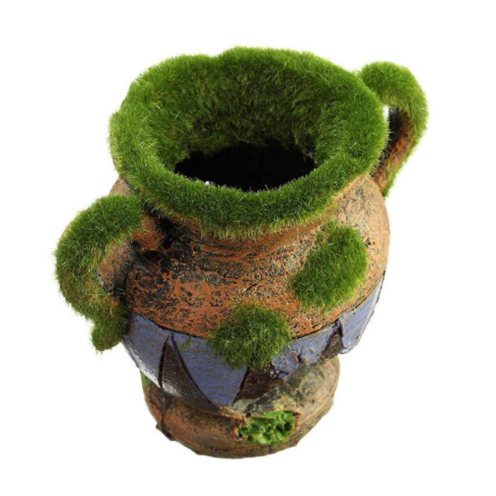 Vaso di resina con accessori di decorazione acquario muschio pesci gamberetti serbatoio paesaggio ornamenti decorazione della casa