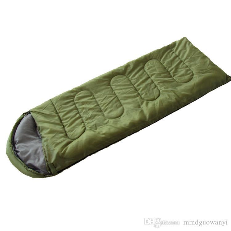 Camping sleeping bag Outdoor camping thermal envelope with hood cotton sleeping bag Lunch break light sleeping bag