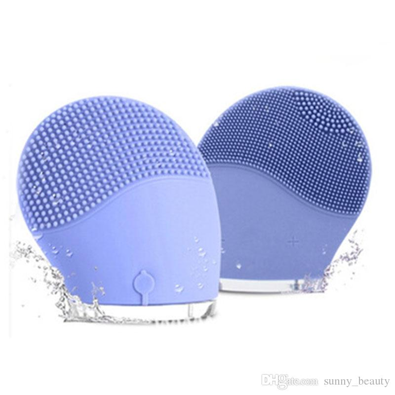 Mini Electric Facial Brush Cleaner Silicone Waterproof