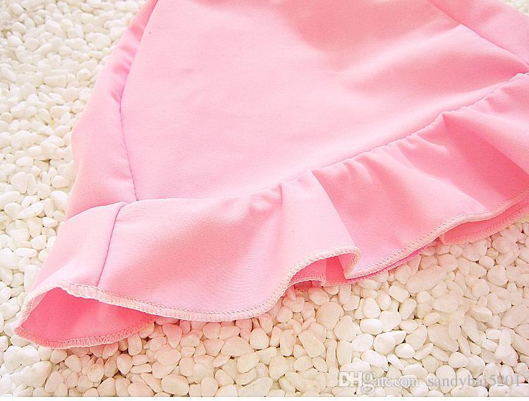 Kids Girls Bikini Swimwear Baby Girls Tassel Swimsuit Toddler Hat + Top + Skirt Set 2017 Princess Bathing Tankini Beach Clothes B146