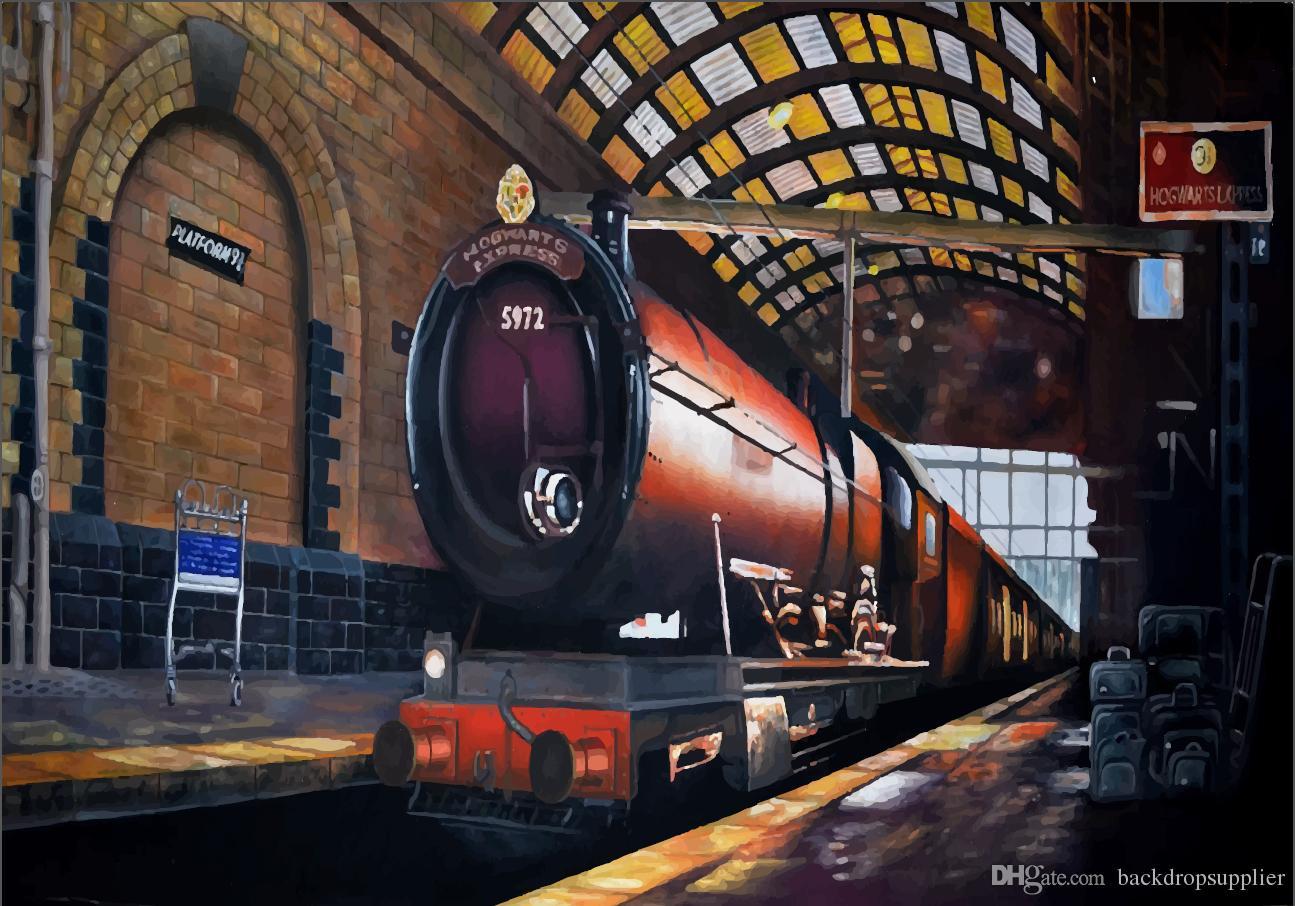 2018 7x5ft harry potter hogwarts express train custom photo studio background backdrop banner. Black Bedroom Furniture Sets. Home Design Ideas