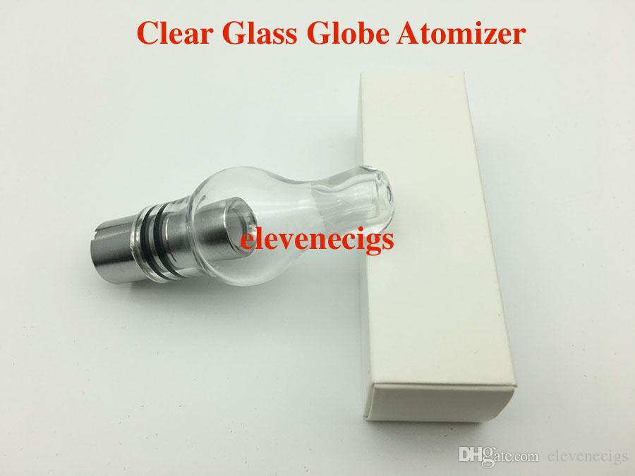 Nuovo Glass Globe Atomizzatore in vetro pyrex serbatoio Cera erba secca vape e-sigaretta bobina Singl Sostituzione bobina in ceramica batteria EGo-T