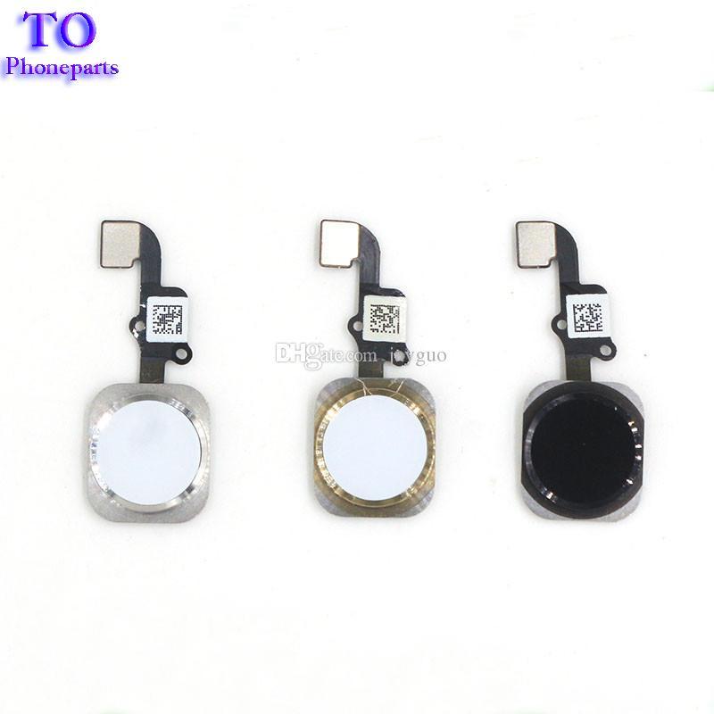 10 STÜCKE NEUE Home Button Flex Flachbandkabel Montage Für iPhone 5 S 6 6 Plus 6 S Plus reparatur teil Kostenloser versand
