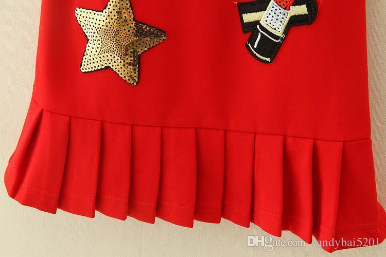 Kids Girls Sequins Dresses 2017 Baby Girl Cartoon Dress Infant Girls Striped Tutu Dress for Party Princess Vestidos Children Clothing S983