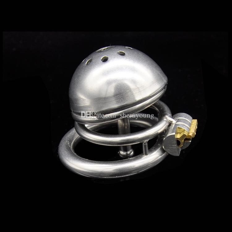 ultra small male chastity device short cock cage stainless steel with urethral catheter adult sex toys for him XCXA221