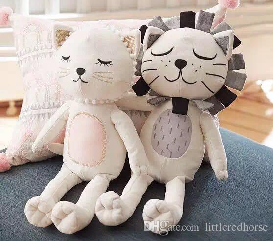Cute Stuffed Cat Doll Lion Stuffed Doll Plush Comforting Soft