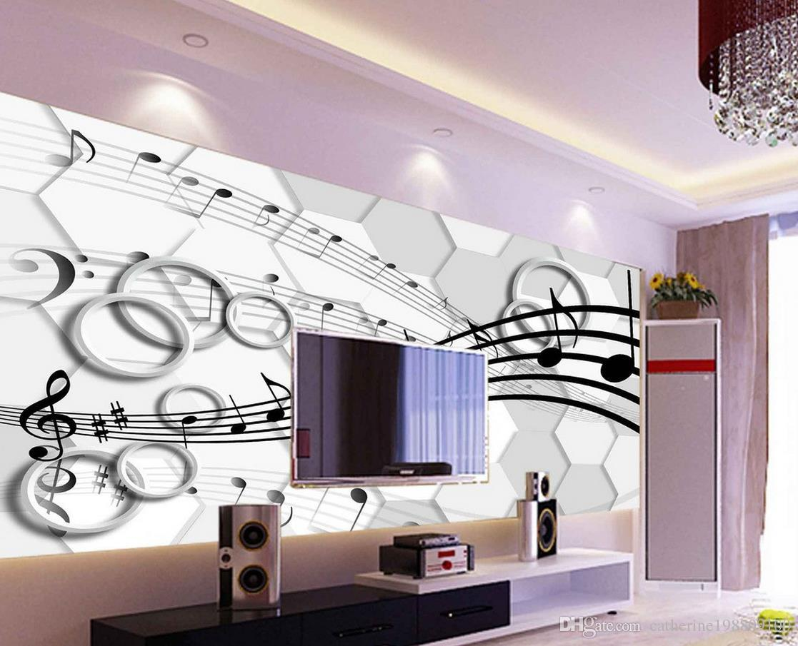 Classic Home Decor 3D Stereo Three - Dimensional Note Circle TV Wall ...