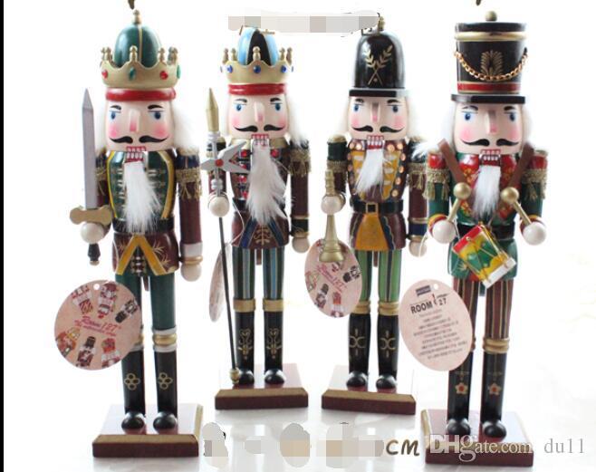 30 cm Fındıkkıran askerler puppe toptan 4 adet Retro Fındıkkıran kukla askerler yaratıcı karakterler Ev Mobilya masaüstü dekorasyon ...