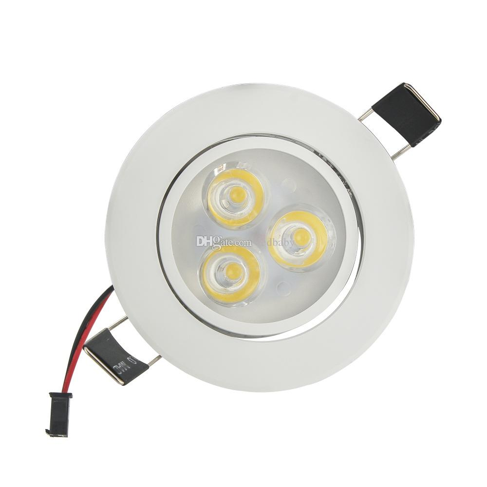 Ceiling Lighting Led Ceiling Lights Kitchen 110 220v Flush: 3W Recessed LED Downlight AC110V/220V White Shell Bathroom