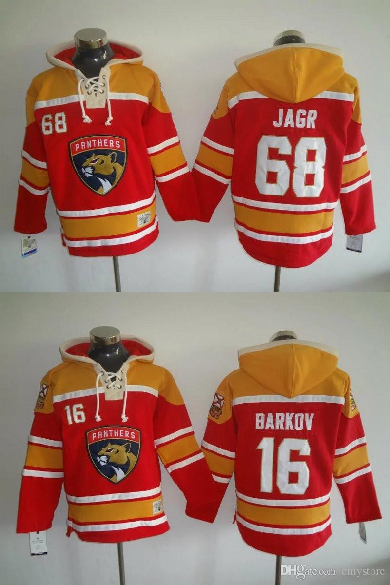 2018 2017 New Florida Panthers Hockey Jersey Hoodies #16 Aleksander Barkov #68  Jaromir Jagr Stitched Embroidery Logos Sweatshirts Jerseys From Emystore,  ...