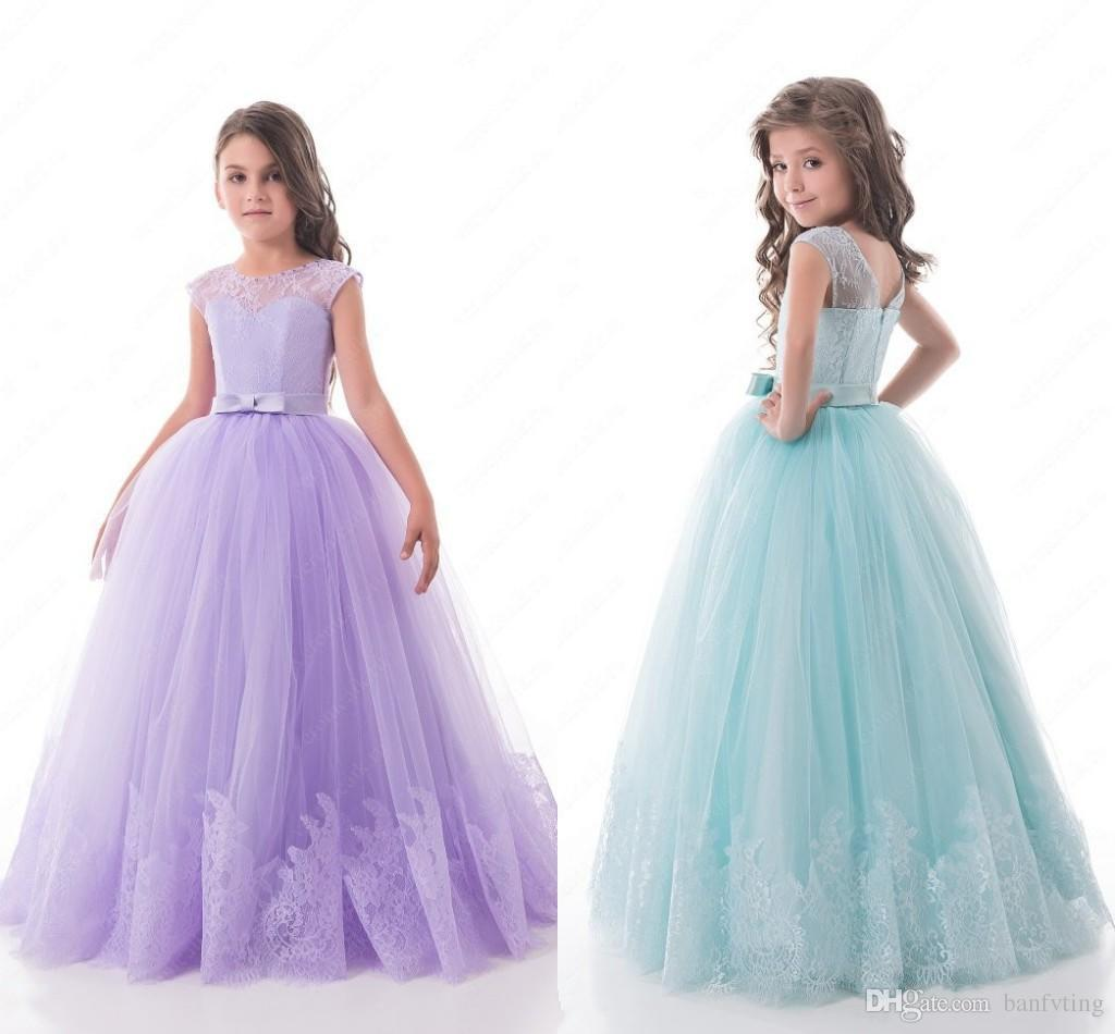 Beautiful prom dress little girls floor length light purple sky beautiful prom dress little girls floor length light purple sky blue kids pageant gown a line cheap price junior bridesmaid dresses ivory flower girl dress ombrellifo Image collections