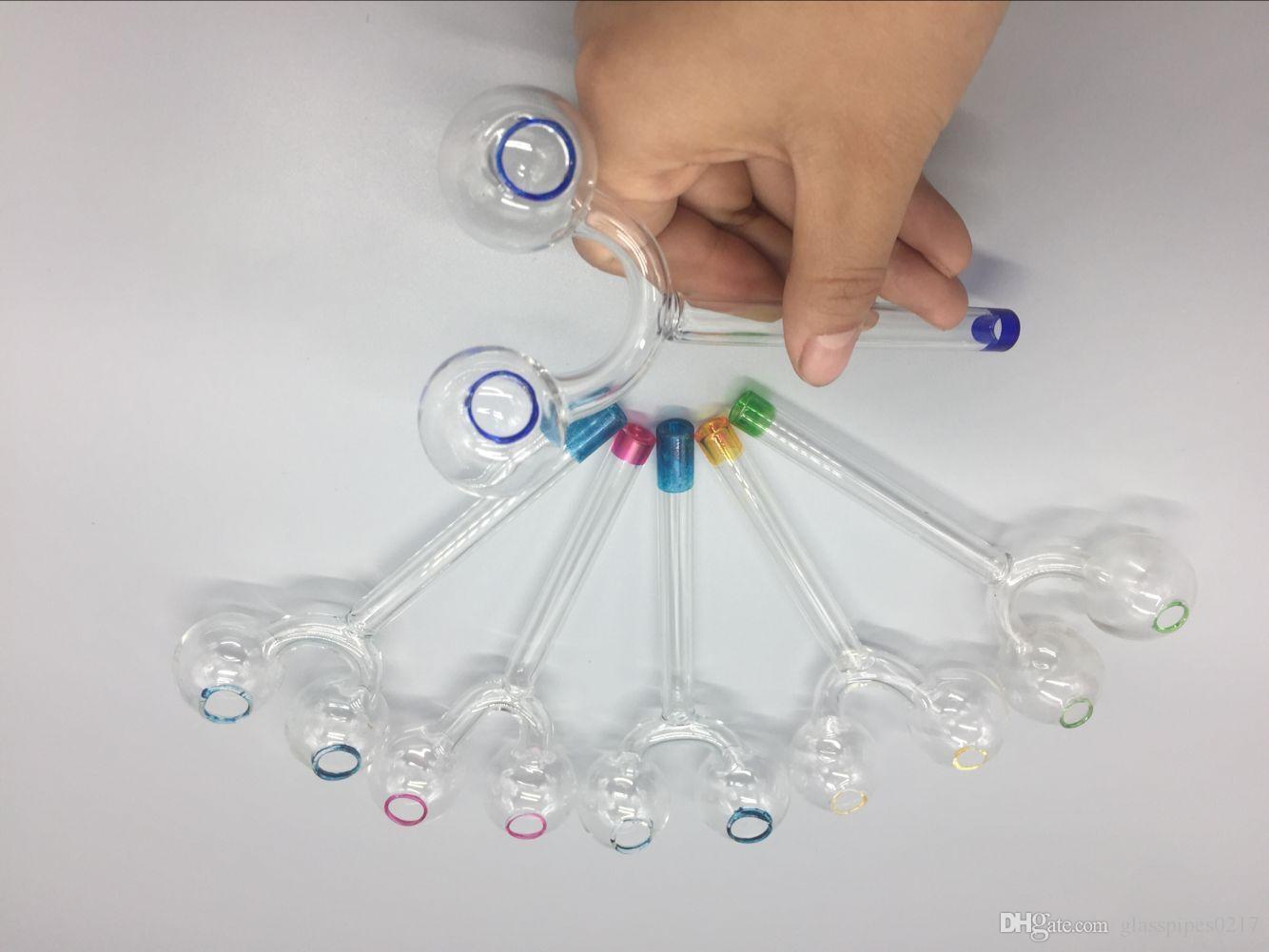 Yüksek kaliteli renkli Cam Yağı Brülör Çift Brülör cam borular Sigara Boru nargile için nargile cam bongs STOKTA