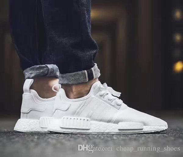 buy popular 91819 d2563 mens nmds boost black and white gold shoes sale