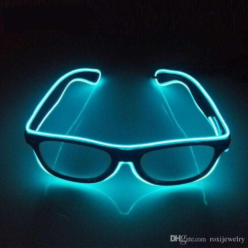 Compre Led Party Lighting Glasses Moda El Wire Levou Óculos De Néon ...