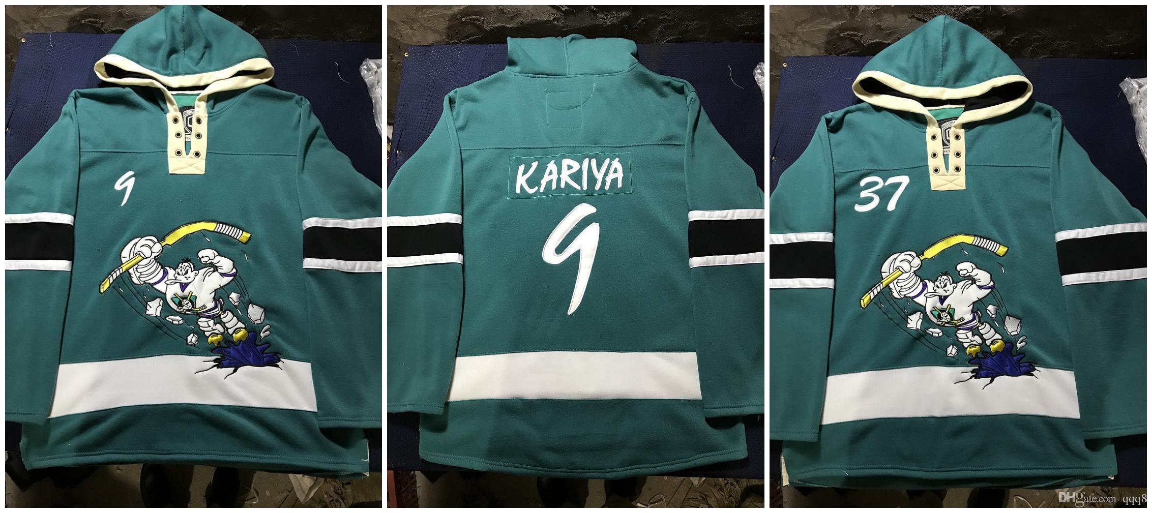 7147a07de 2019 Custom Anaheim Mighty Ducks Third Movie Hoodie Hockey 5 DIRK 8 Teemu  Selanne 9 Paul Kariya 11 Karpov Pullover Sweatshirts Jacket Stitched From  Qqq8, ...