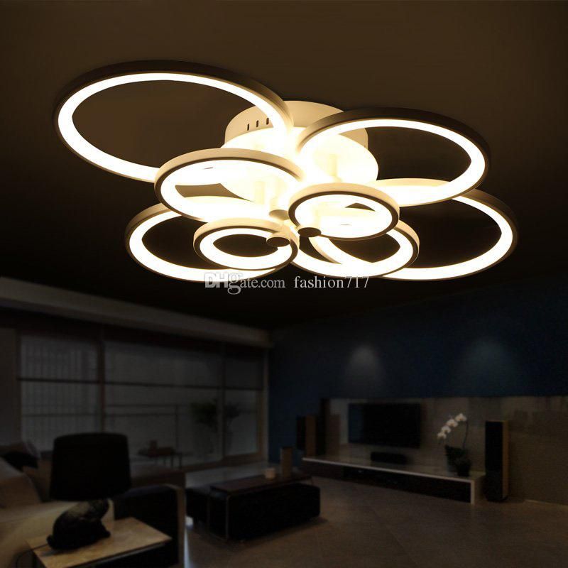 Großhandel Fernbedienung Wohnzimmer Schlafzimmer Moderne Led Deckenleuchten  Luminarias Para Sala Dimmen Led Deckenleuchte Kronleuchter Lampe ...