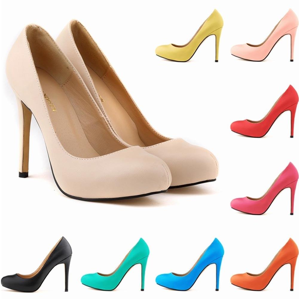 Chaussure Femme Womens Pu Leather High Heel Shoes Pointed Toe Corset Style  Work Pumps Court Shoes Women US Size 4-11 D0055 Women Shoes Pumps Women High  ... 04b70114c64e