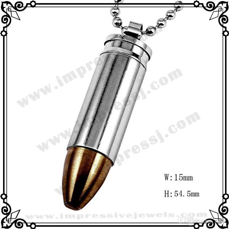 IJD2063 Kugel Andenken Urne Anhänger / Edelstahl Feuerbestattung Schmuck Speicher Asche Stash Anhänger Halskette