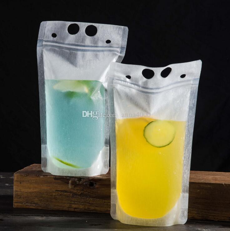 450ml Sacchetto di bevande di plastica auto sigillato trasparente Sacchetto di bevanda contenitore di bere sacchetto di frutta contenitore di bere cibo