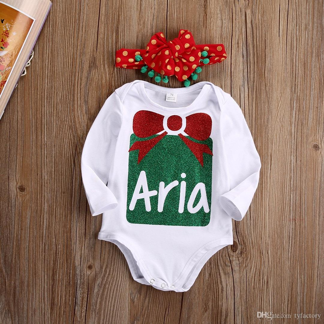 2017 hot sale kids fashion suits Baby Boy Girl christmas sets Newborn Infant Romper+Headband Bodysuits Outfits Clothing Sets 0-24M Fact