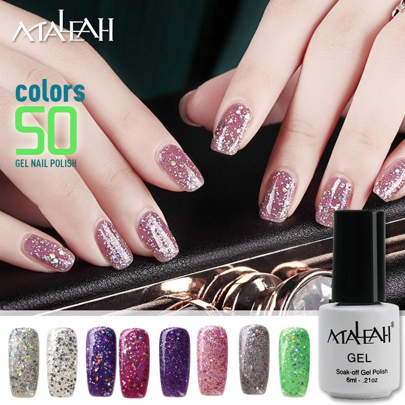 Wholesale- Maleah Gel Lacquer 6ML Pure Colors UV Gel Manicure Nail Art Tips Polish Design DIY Color Painting Gel 21-50