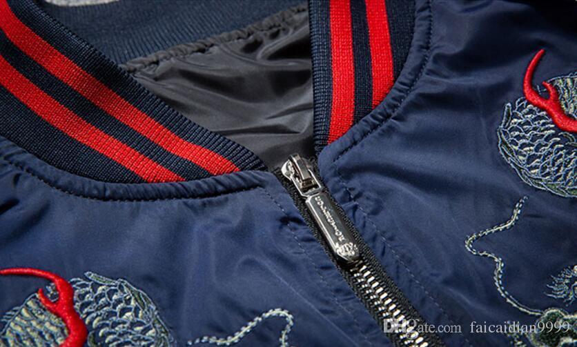 2017 freies verschiffen kanye west neue wind drachen totem harajuku mantel yokosuka stickerei yeeus jacke männlichen piloten baseballuniform ma1