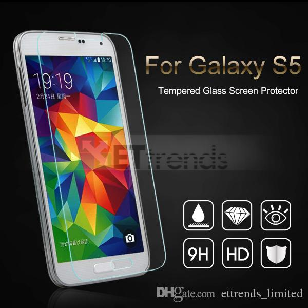 For Samsung Galaxy S3 S4 S5 S6 S3 Mini S4 Mini S5 Mini Tempered Glass Screen Protector With Paper Retail Package DC0038