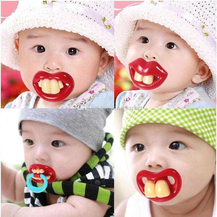 All'ingrosso baby ciuccio ciuccio divertente Carino denti baffi Baby Boy Girl neonato ciuccio ortodontico manichino barba capezzoli ciucci cioccolata