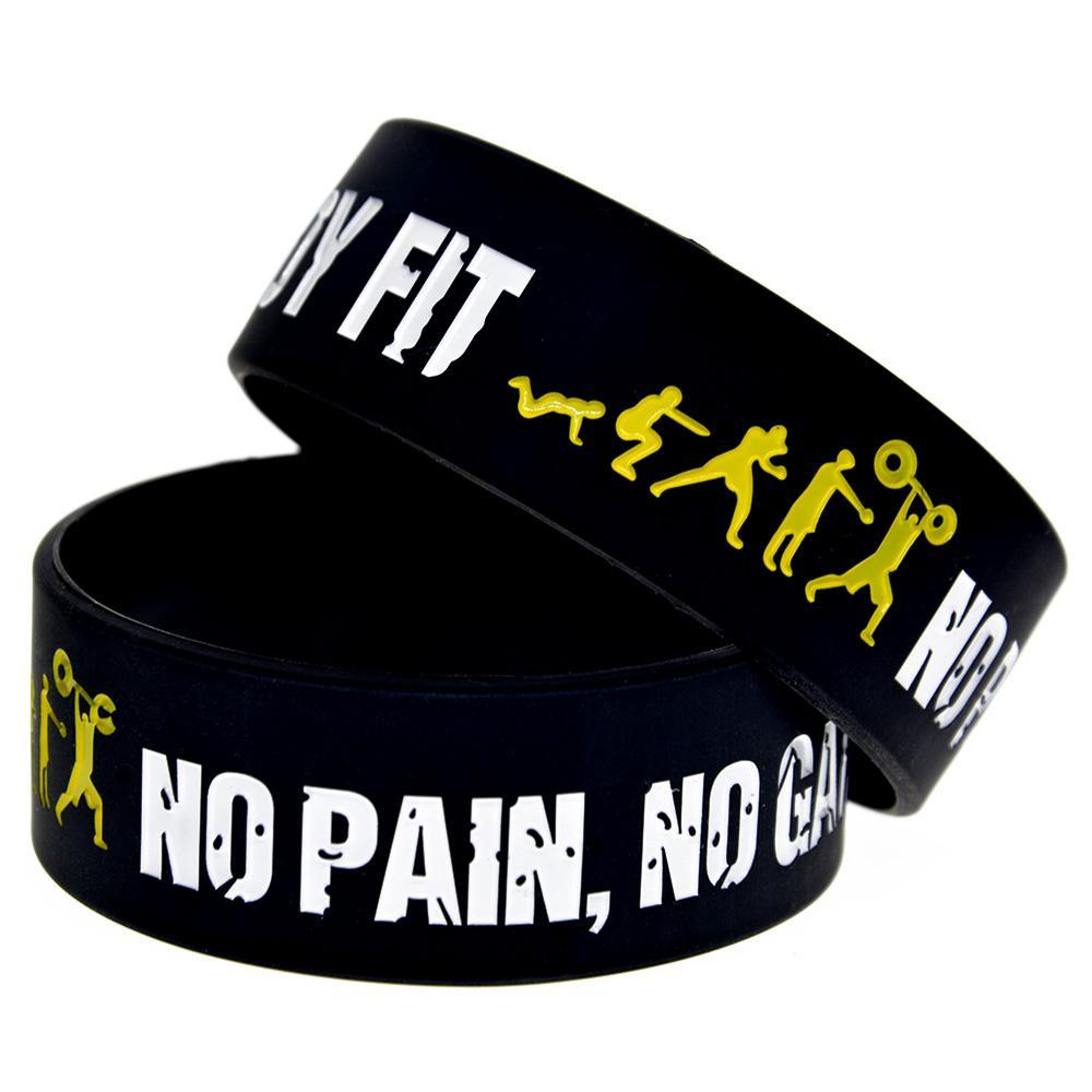 Ognuno Fit No Pain No Gain silicone braccialetti perfetta utilizzare in tutte Vantaggi regalo