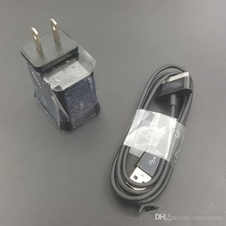 for p1000 tablet PC chargers 5V 2A US EU UK plug cable 2 in 1 charger galaxy tab travel adapter charging for galaxy tab p1000 p7500 p7300